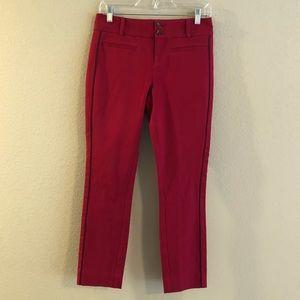 ANTHROPOLOGIE The Essential Slim Pants 2 Raspberry